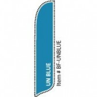 2 x 12 ft. Solid Color UN Blue Blade Flag - Product Image