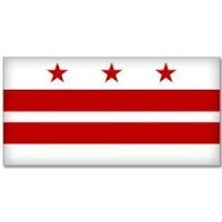 2' x 3' Washington D.C. Nylon Flag - Product Image