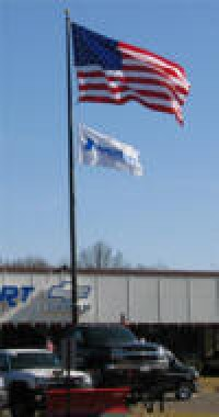 35 ft. 2 PC. Anchor Base Aluminum Flag Pole - Product Image