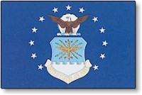 "12"" X 18""' United States Air Force Flag - Nylon - Product Image"