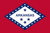 "12"" X 18"" Arkansas Flag - Nylon - Product Image"