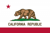 "12"" X 18"" California Flag - Nylon - Product Image"