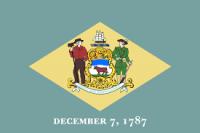 "12"" X 18"" Delaware Flag - Nylon - Product Image"