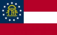 "12"" X 18"" Georgia Flag - Nylon - Product Image"
