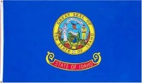 "12"" X 18"" State of Idaho Flag - Nylon - Product Image"