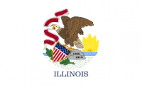 "12"" X 18"" State of Illinois Flag - Nylon - Product Image"
