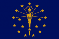 "12"" X 18"" State of Indiana Flag - Nylon - Product Image"