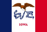 "12"" X 18"" State of Iowa Flag - Nylon - Product Image"