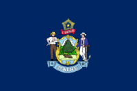 "12"" X 18"" State of Maine Flag - Nylon - Product Image"