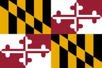 """12"""" X 18"""" State of Maryland Flag - Nylon - Product Image"""