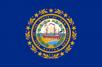 "12"" X 18"" State of New Hampshire Flag - Nylon - Product Image"