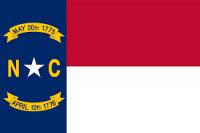 """12"""" X 18"""" State of North Carolina Flag - Nylon - Product Image"""