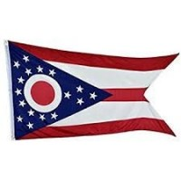 "12"" X 18"" State of Ohio Flag - Nylon - Product Image"
