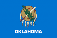 "12"" X 18"" State of Oklahoma Flag - Nylon - Product Image"