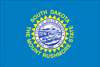 "12"" X 18"" State of South Dakota Flag - Nylon - Product Image"