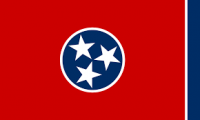 "12"" X 18"" State of Tennessee Flag - Nylon - Product Image"