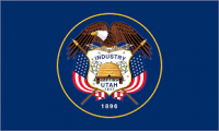 "12"" X 18"" State of Utah Flag - Nylon - Product Image"