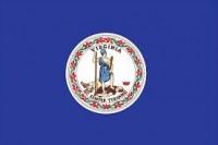 "12"" X 18"" State of Virginia Flag - Nylon - Product Image"