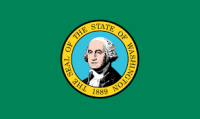 "12"" X 18"" State of Washington Flag - Nylon - Product Image"