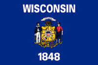 """12"""" X 18"""" State of Wisconsin Flag - Nylon - Product Image"""
