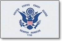 2' X 3' United States Coast Guard Flag - Nylon - Product Image