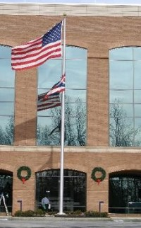25' Medium Duty Commercial Cam Cleat Aluminum Flag Pole - Product Image