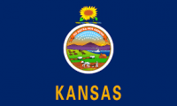3' X 5' State of Kansas Flag - Nylon - Product Image