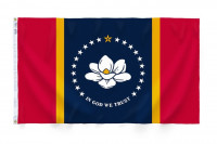 3' X 5' State of Mississippi Flag - Nylon - Product Image