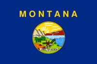 3' X 5' State of Montana Flag - Nylon - Product Image