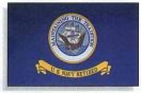 3' X 4' Indoor United States Navy Retired Flag - Nylon - Product Image