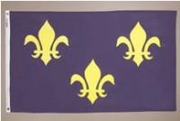 3' X 5' French Fleur-de-lis Flag - Nylon
