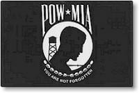 3' X 5' Indoor POW-MIA Flag - Single Reverse Nylon - Product Image