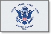 3' X 5' Indoor United States Coast Guard Flag - Nylon - Product Image