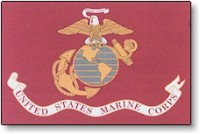 3' X 5' Indoor United States Marines Corps Flag - Nylon - Product Image