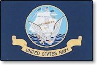 3' X 5' United States Navy Flag - Nylon - Product Image
