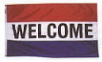 3' x 5' WELCOME Flag - Product Image