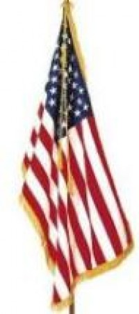 4-1/3 ft. X 5-1/2 ft. Fringed American Flag - Product Image