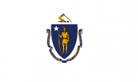 4' X 6' State of Massachusetts Flag - Nylon - Product Image