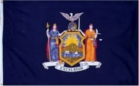 4' X 6' State of New York Flag - Nylon - Product Image