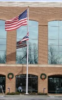 40' Medium Commercial Cam Cleat Aluminum Flag Pole - Product Image