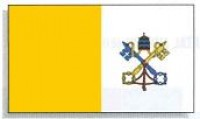4' x 6' Dyed Papal Flag - Nylon - Product Image