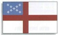 4' x 6' Indoor Episcopal Flag - Nylon - Product Image