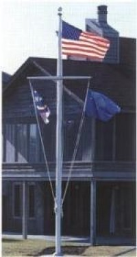 50' Light Commercial Aluminum Nautical Flag Pole - Product Image