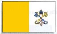 5' x 8' Dyed Papal Flag - Nylon - Product Image
