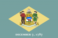 8' X 12' Delaware Flag - Nylon - Product Image