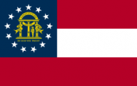 8' X 12' Georgia Flag - Nylon - Product Image