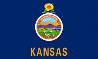 8' X 12' State of Kansas Flag - Nylon - Product Image
