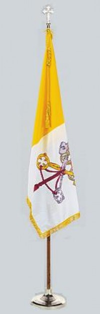 Complete Indoor Papal Flag Pole Set