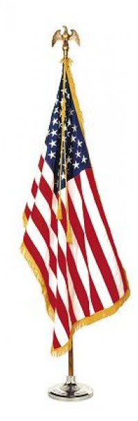 3 ft x 5 ft Complete Indoor U.S. Flag Pole Set - Product Image