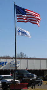 Medium Duty Aluminum Commercial Flag Pole
